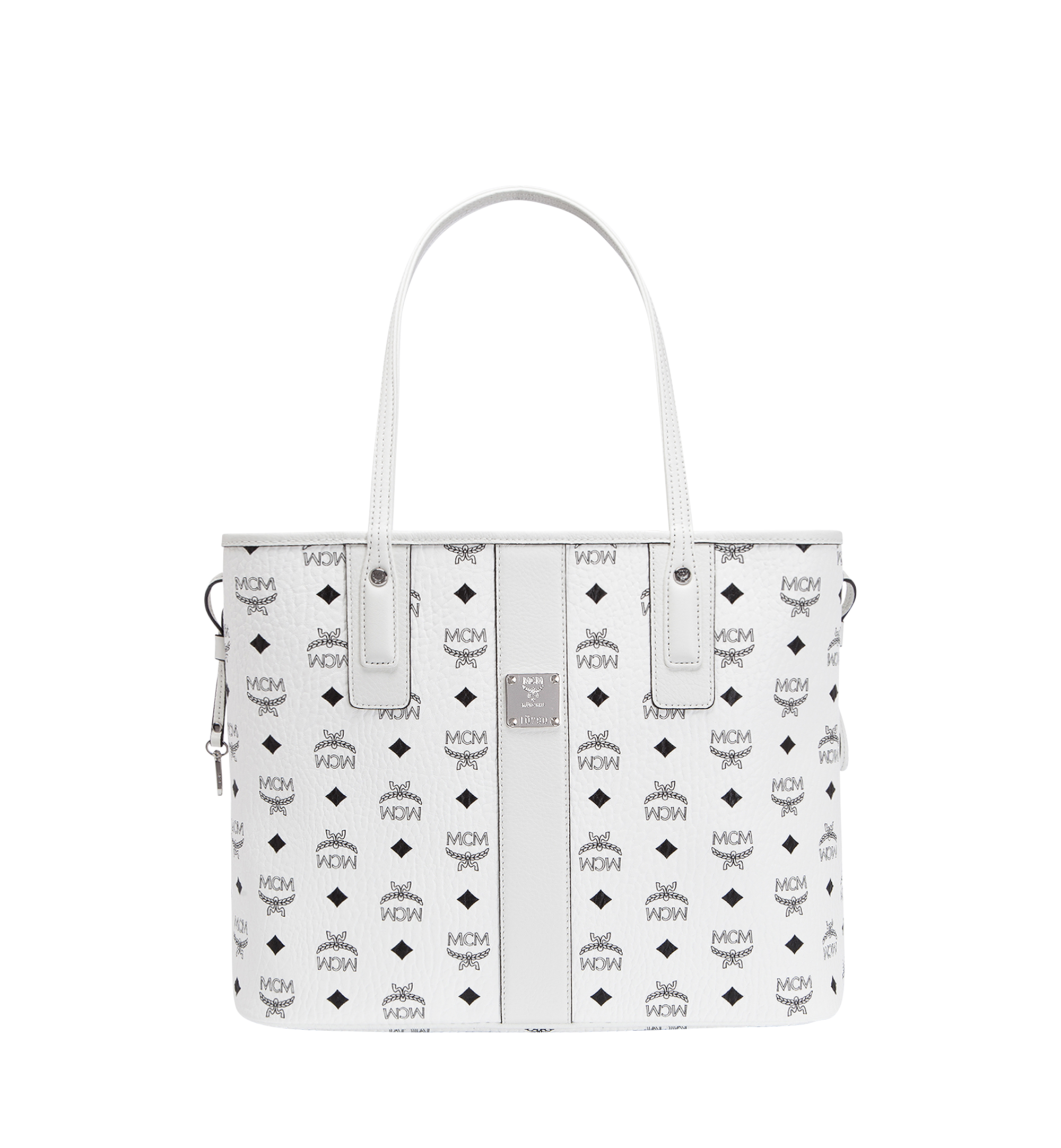 MCM Reversible Liz Shopper Visetos Medium White