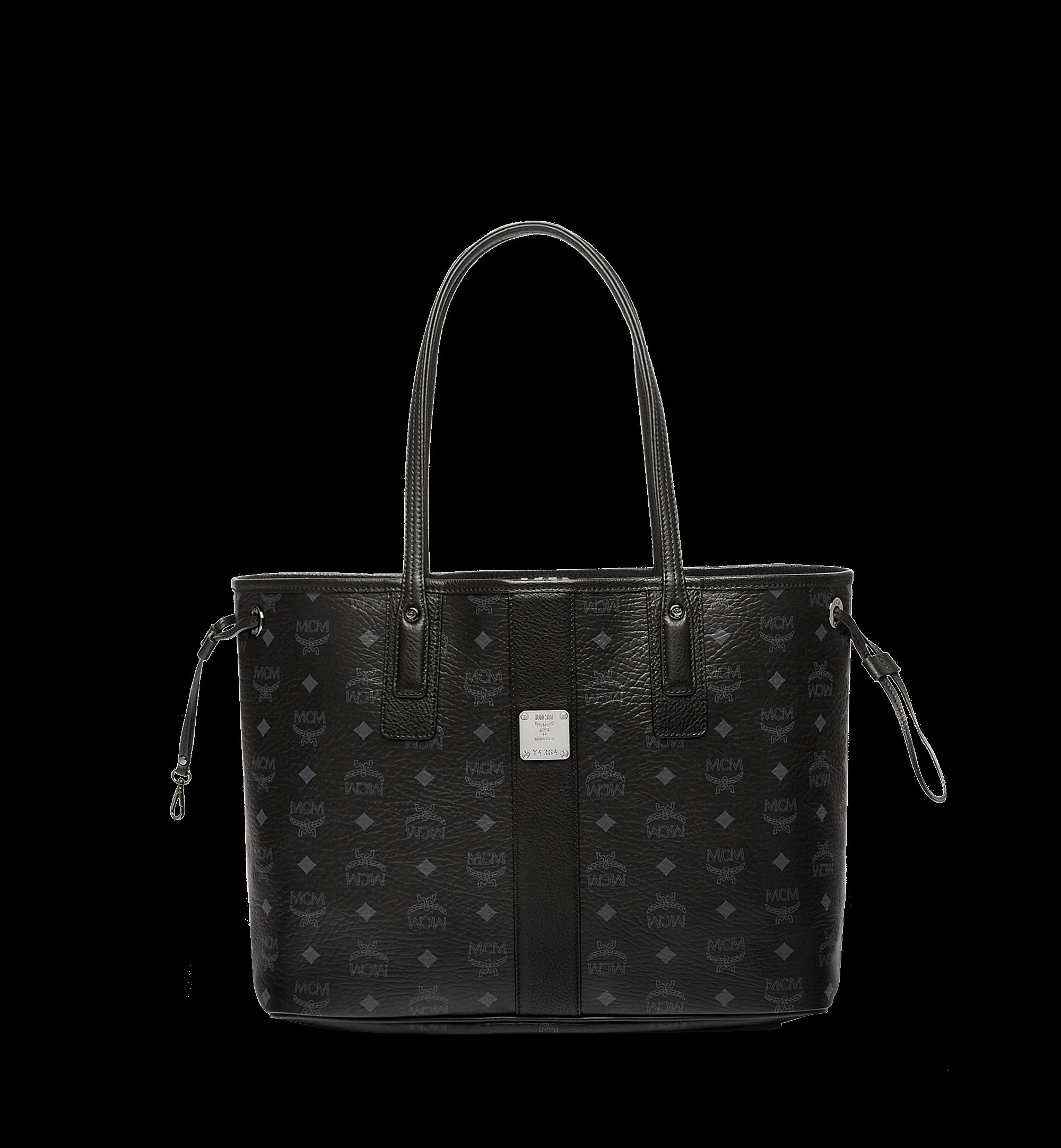 MCM Reversible Liz Shopper Visetos Without Pouch Medium Black