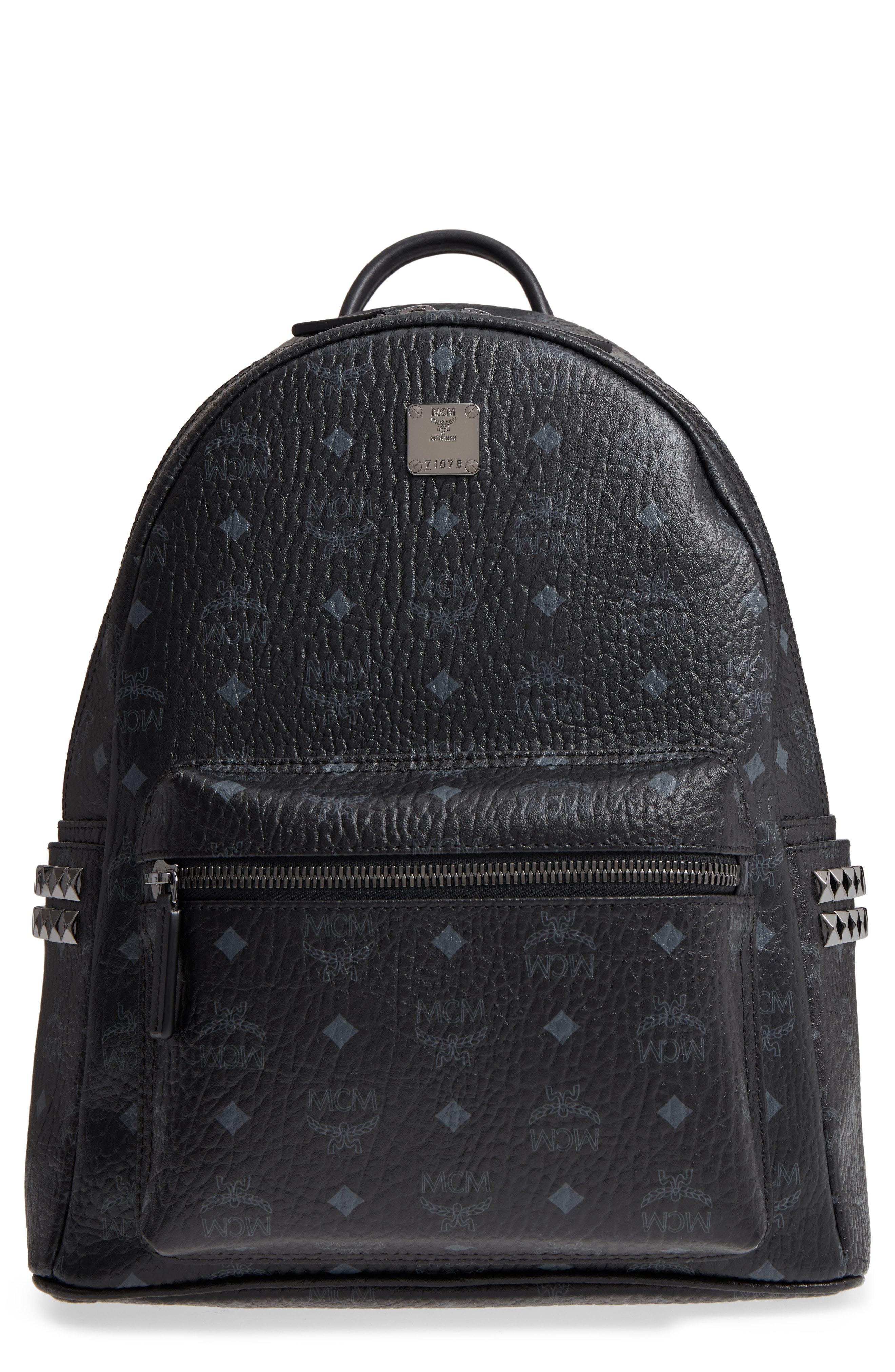 MCM Side Stud Stark Backpack Medium Black