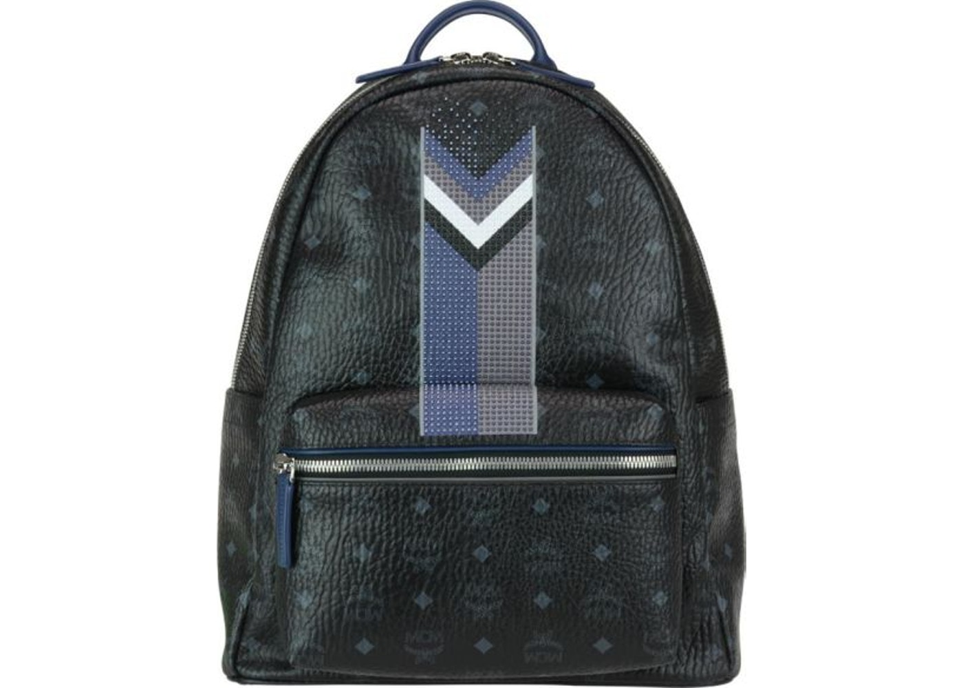 67d44ded66172 Sell. or Ask. View All Bids. MCM Stark Backpack Visetos Chevron Stripe Medium  Black