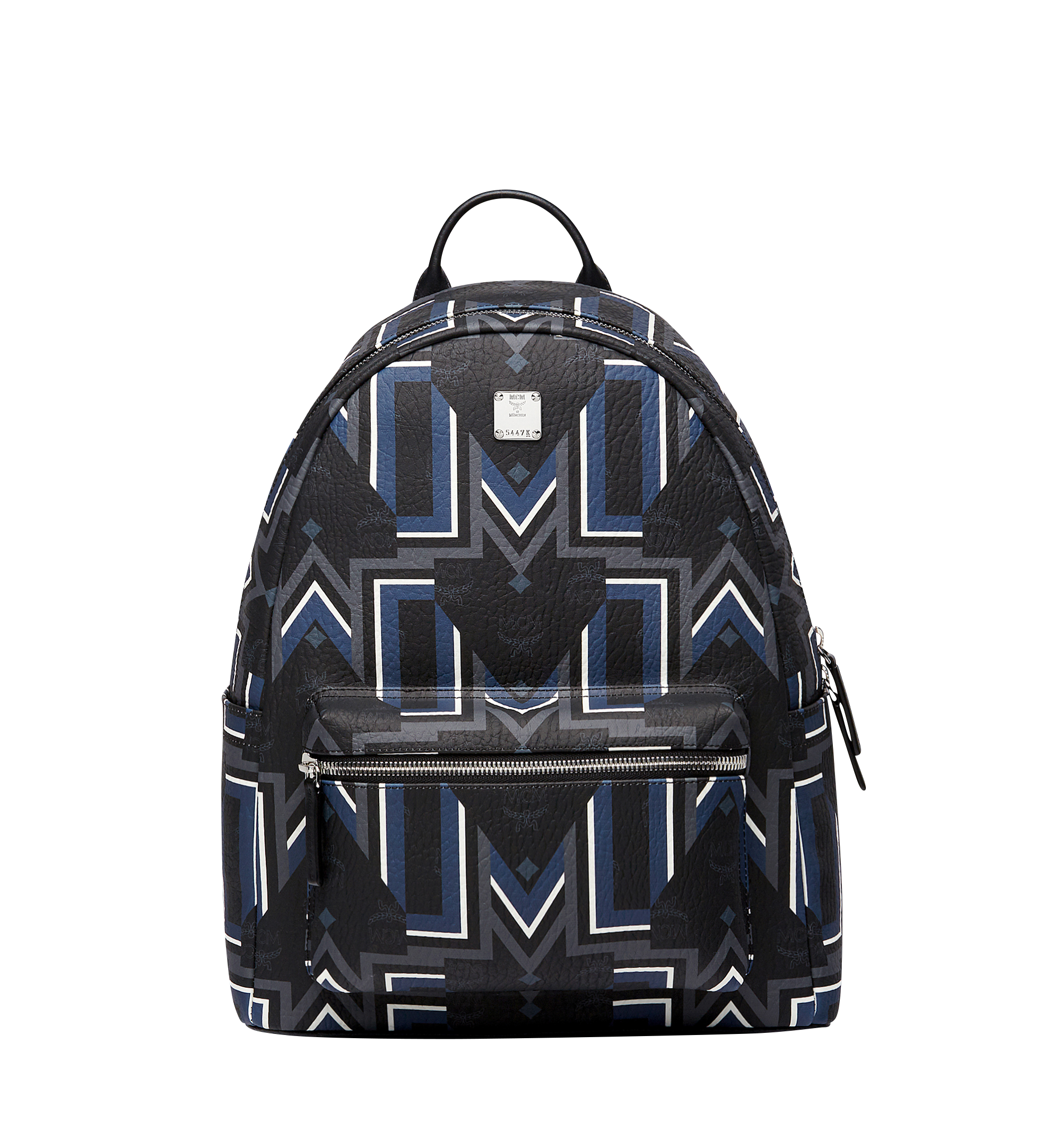 MCM Stark Backpack Visetos Gunta M Stripe Medium Black