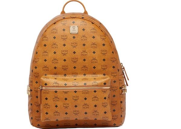 d288b6268c2 MCM Stark Backpack Visetos Side Studs Large Cognac
