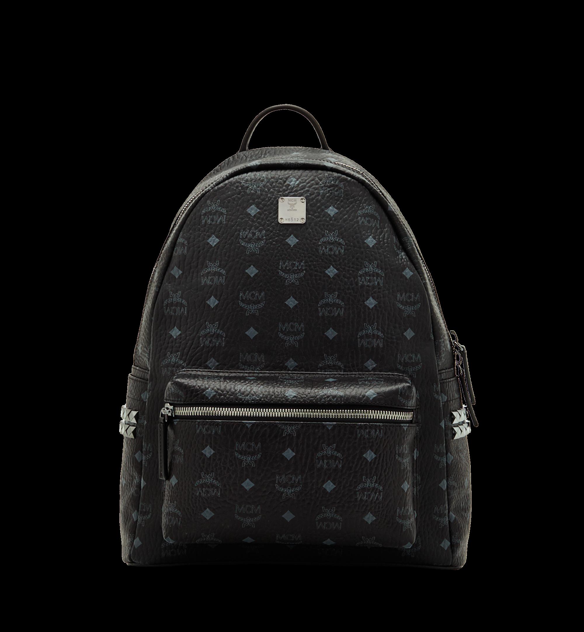 MCM Stark Backpack Visetos Side Studs Medium Black