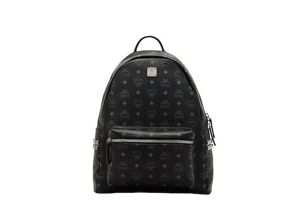 bdcfea0fa83b7 MCM Stark Backpack Visetos Side Studs Medium Black