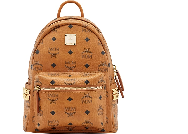 dbef655eca0a MCM Stark Backpack Visetos Side Studs Mini Cognac