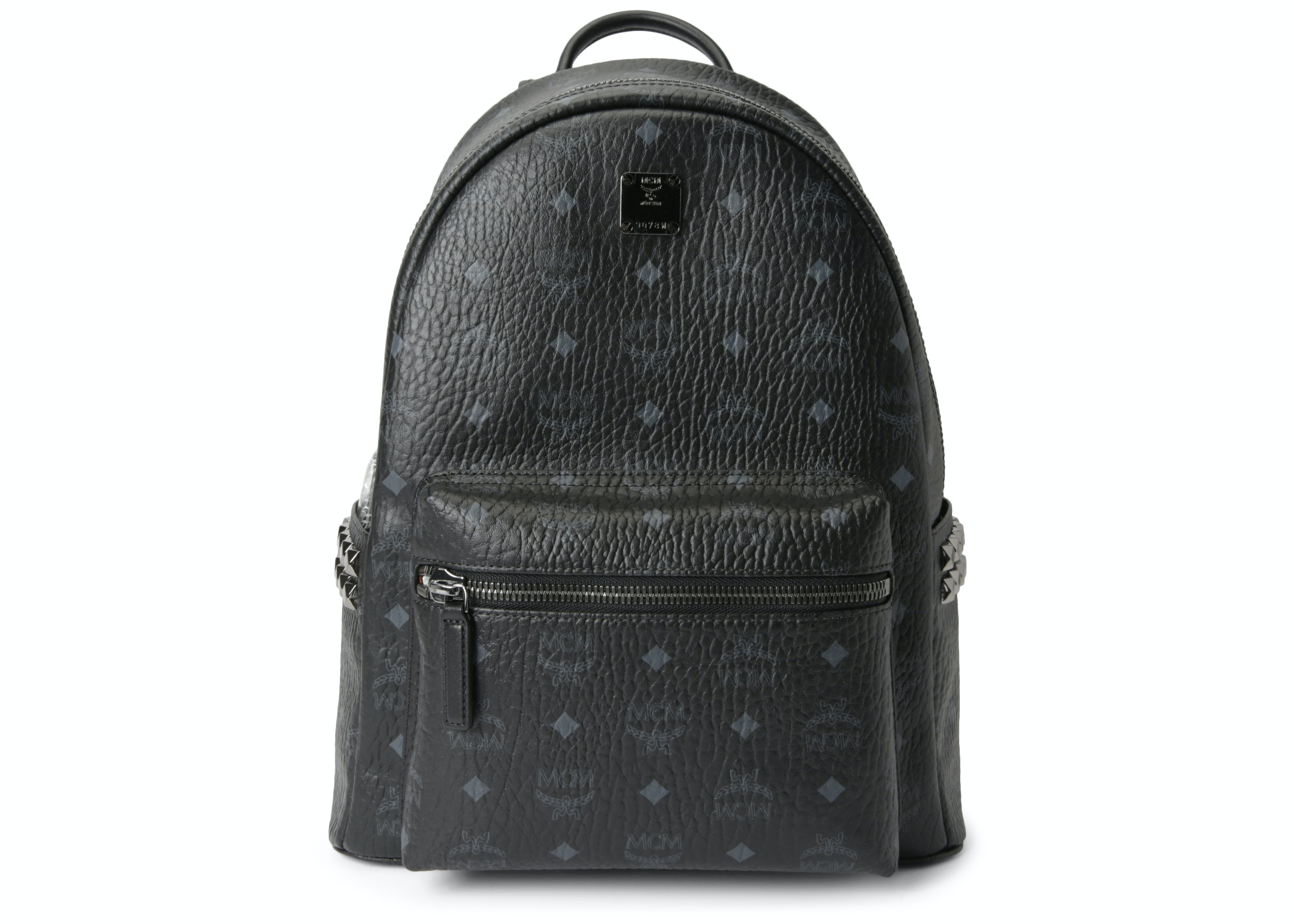 MCM Stark Backpack Visetos Side Studs Small/Medium Black