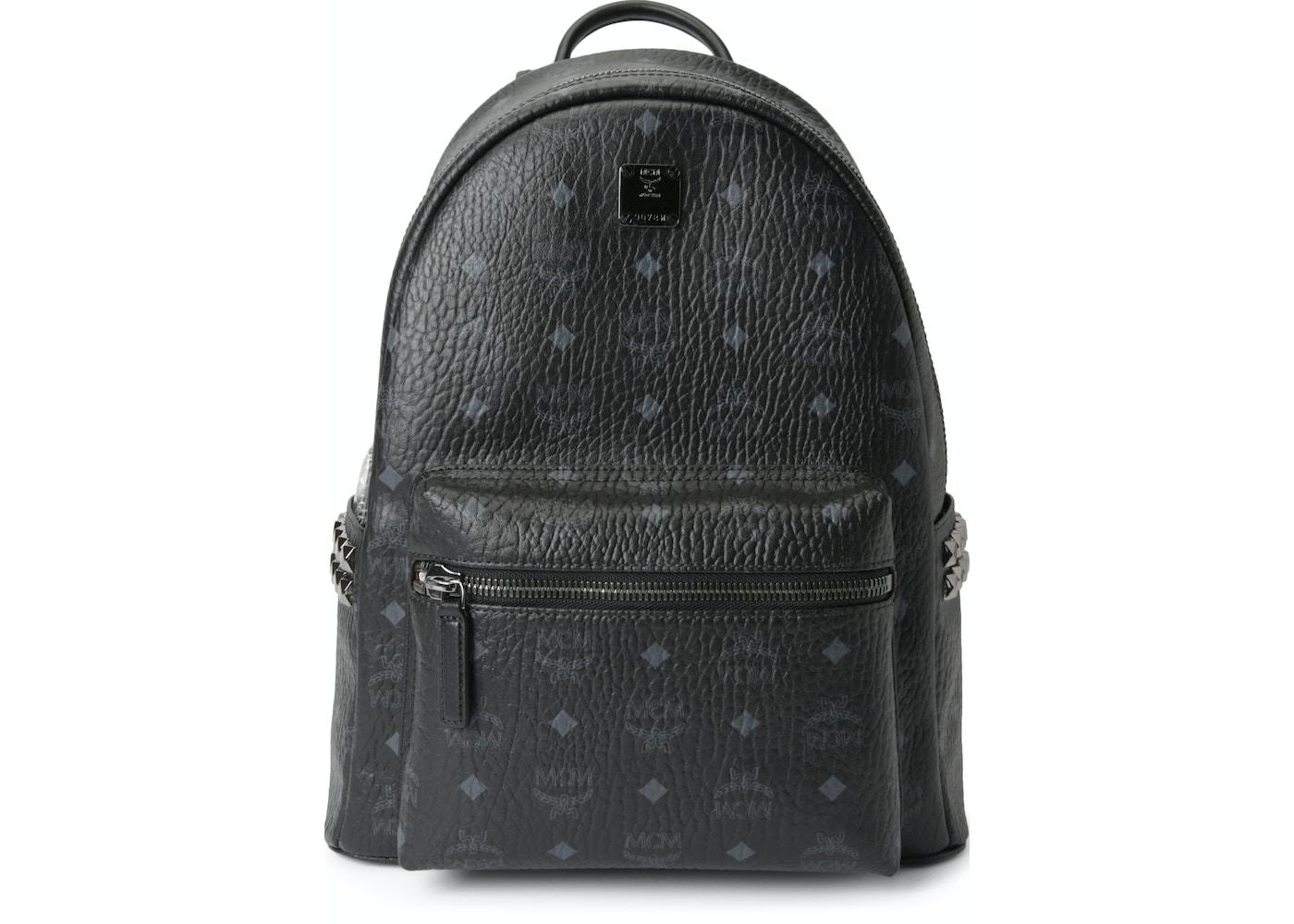 de4ca8c72f85 MCM Stark Backpack Visetos Side Studs Small/Medium Black