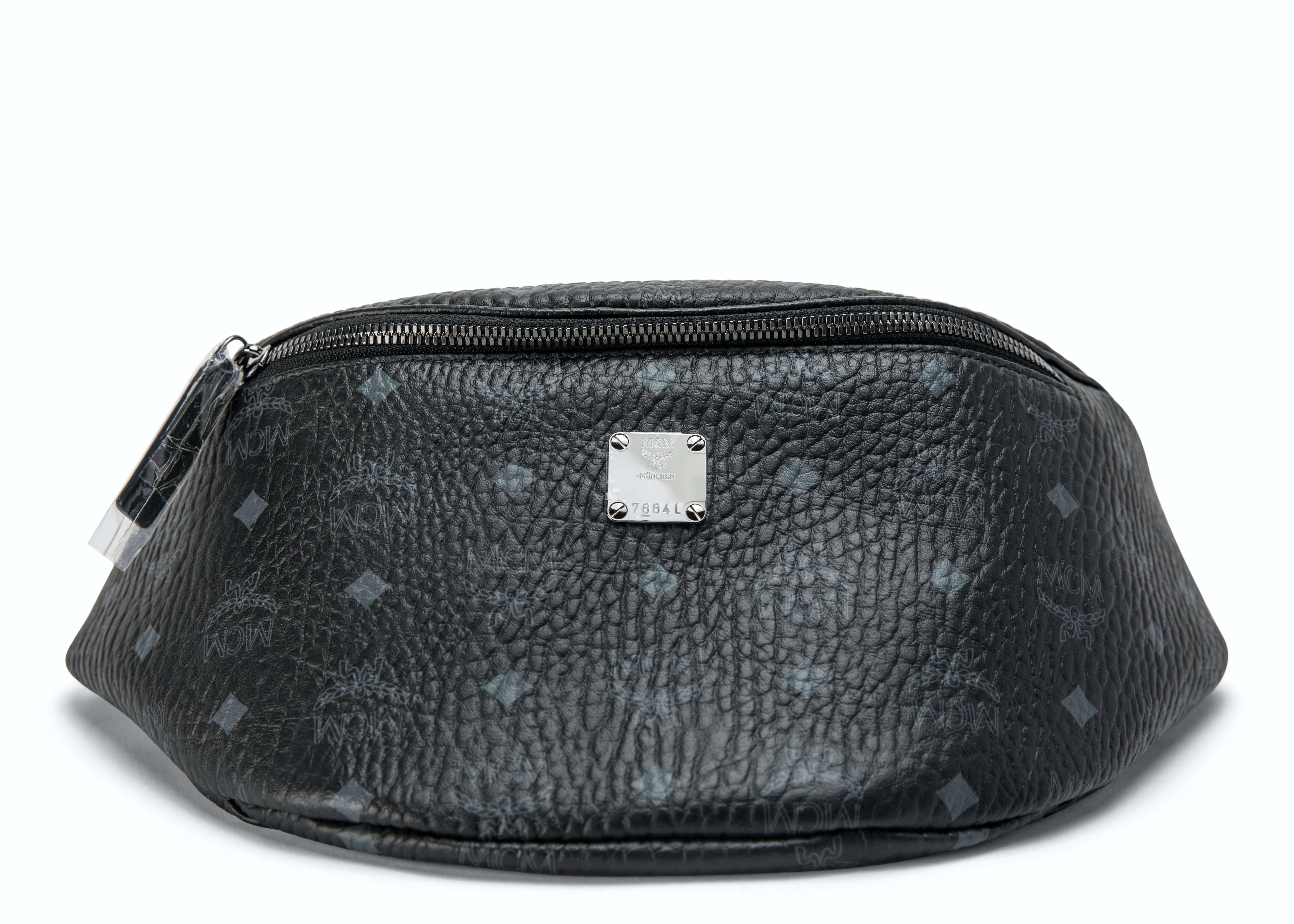 MCM Stark Belt Bag Visetos Medium Black