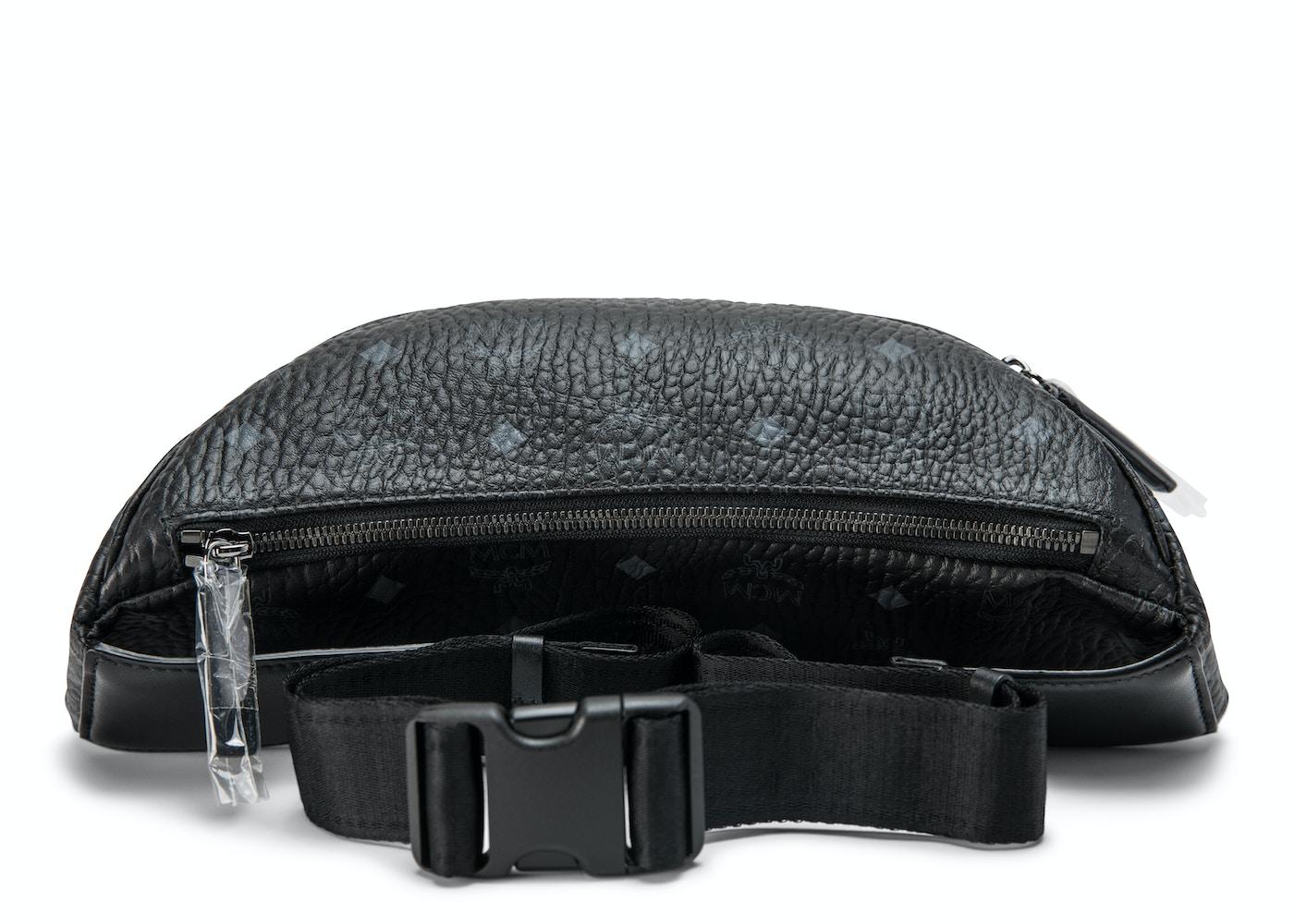 64415d61b06 MCM Stark Belt Bag Visetos Medium Black