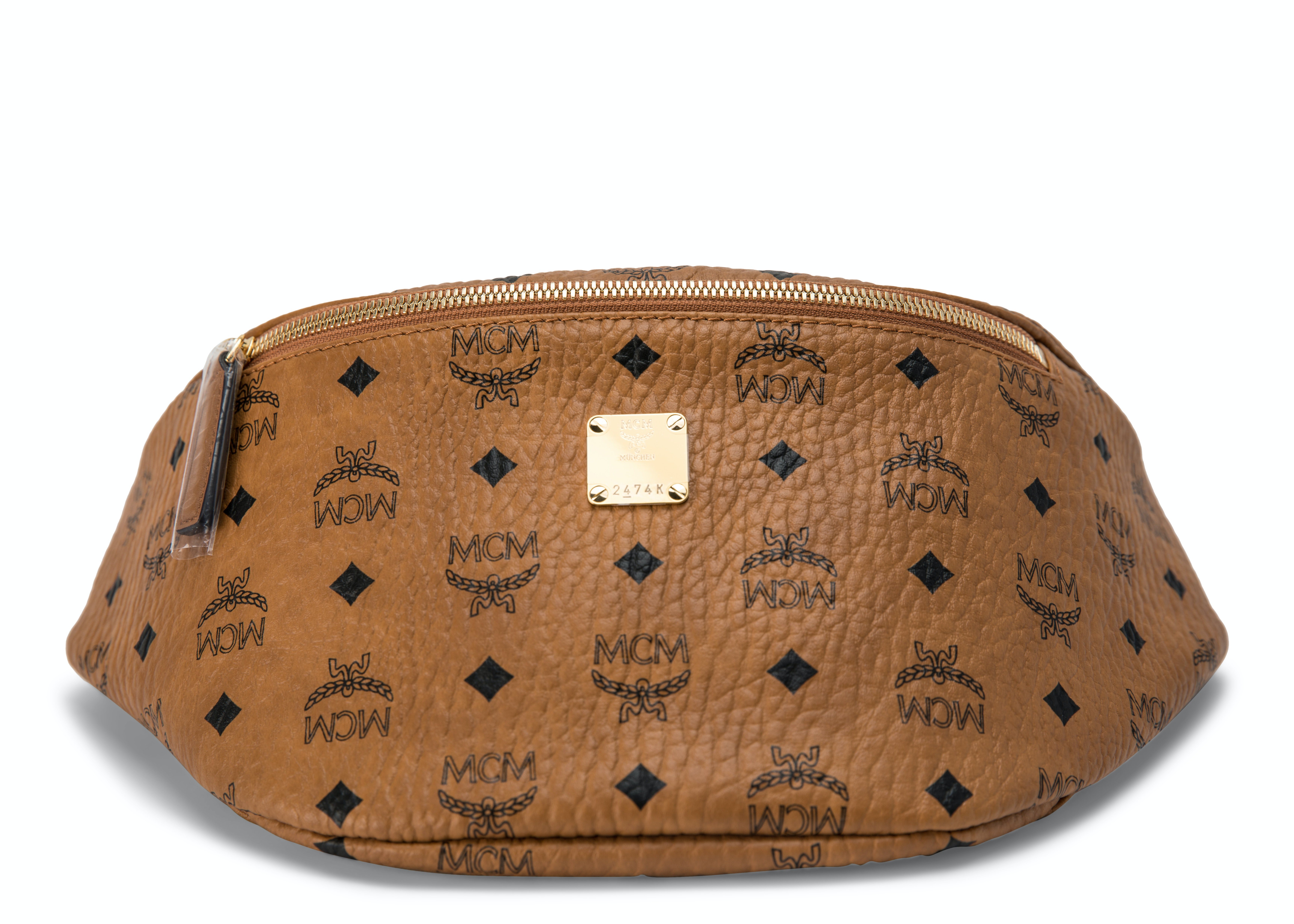 MCM Stark Belt Bag Visetos Medium Cognac