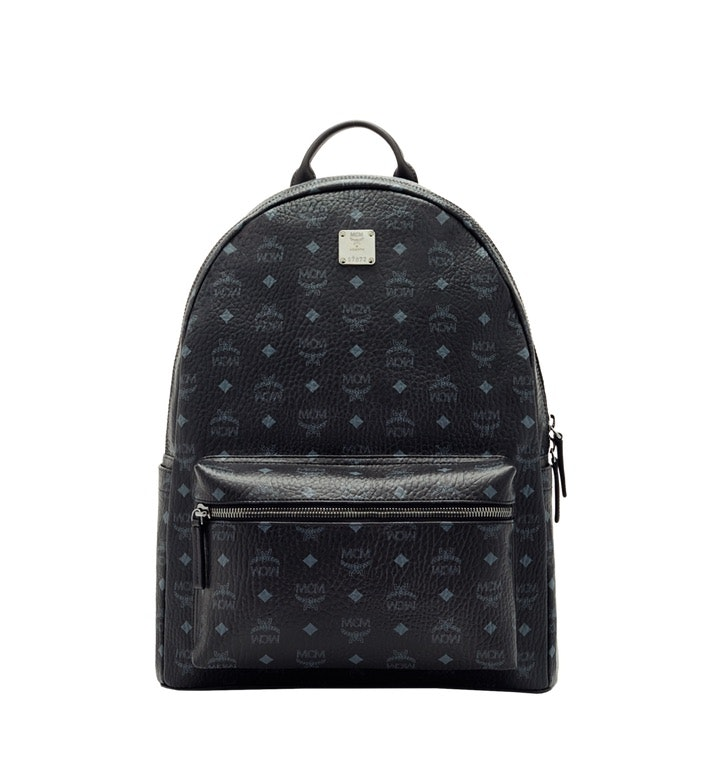 MCM Stark Classic Backpack Visetos Large Black