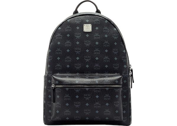 9ea21e85c76 MCM Stark Classic Backpack Visetos Large Black