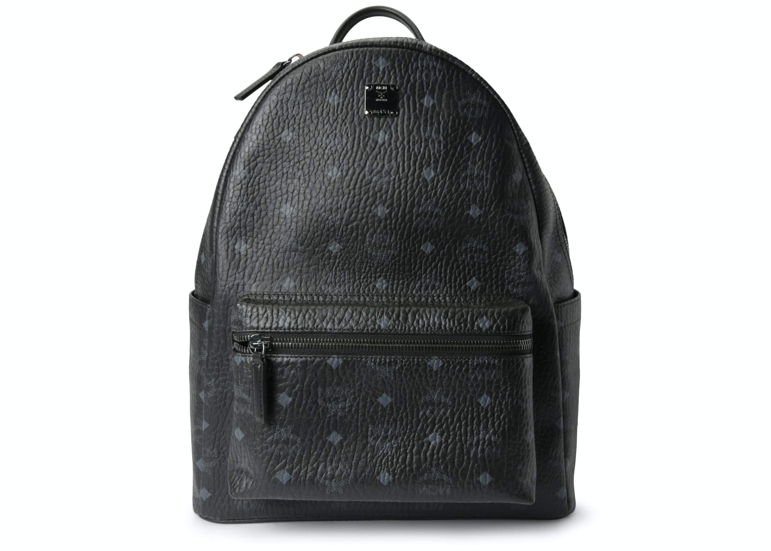 MCM Stark Classic Backpack Visetos Medium Black