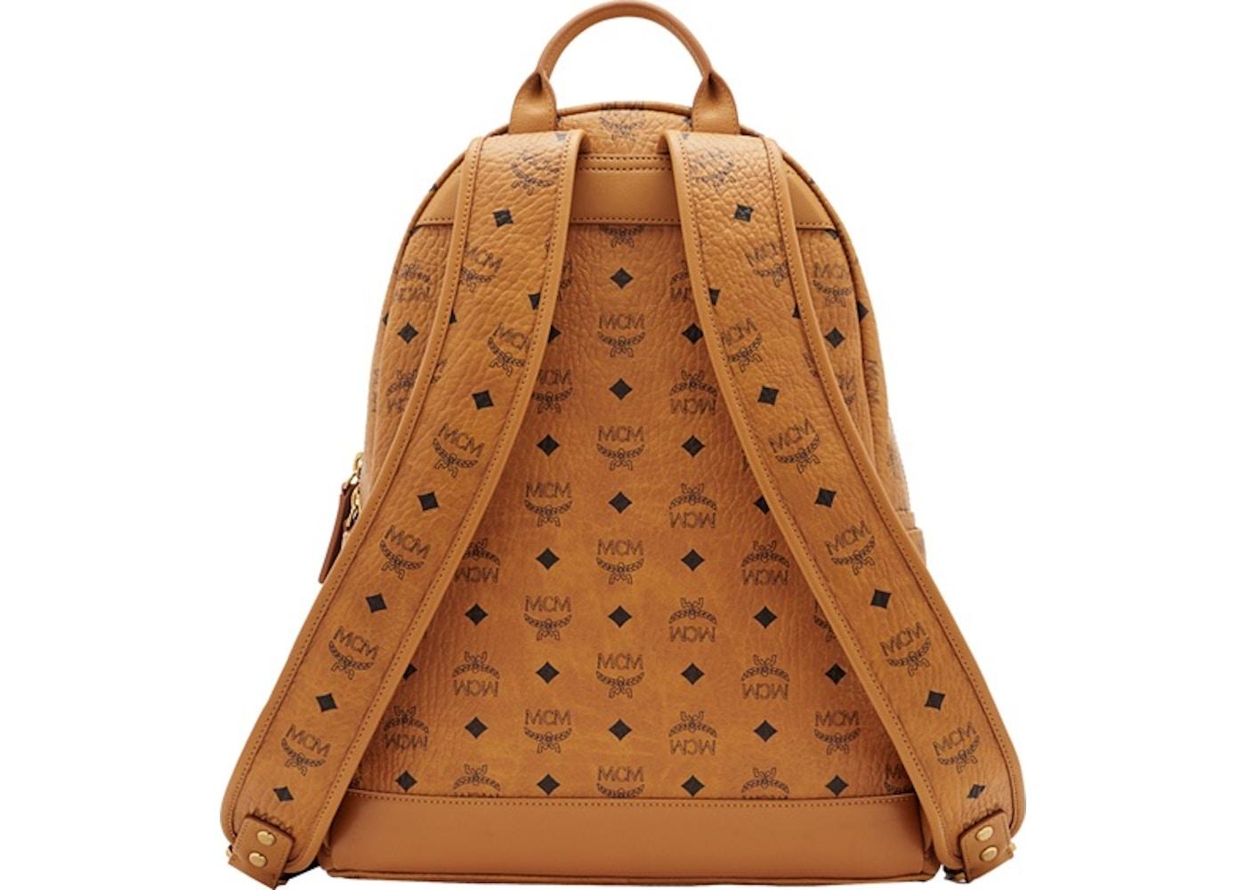 ea1f0076e MCM Stark Classic Backpack Visetos Medium Cognac
