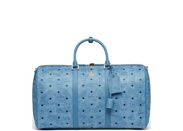 7d7bb8c51f83 MCM Traveler Weekender Visetos Large Denim Blue