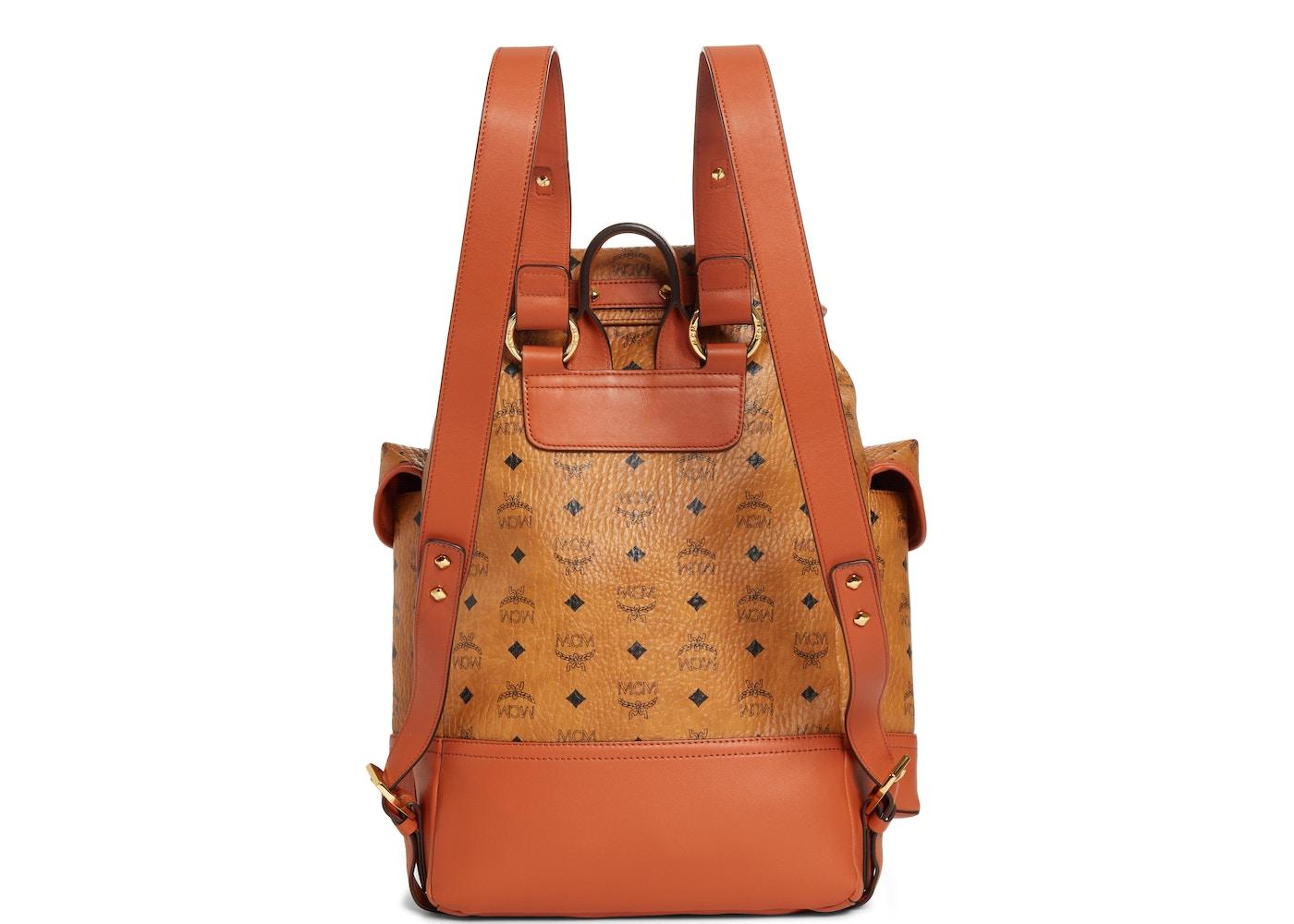969336c963ee3 MCM Vintage Backpack Nordstrom Exclusive 2 Pocket Medium Cognac