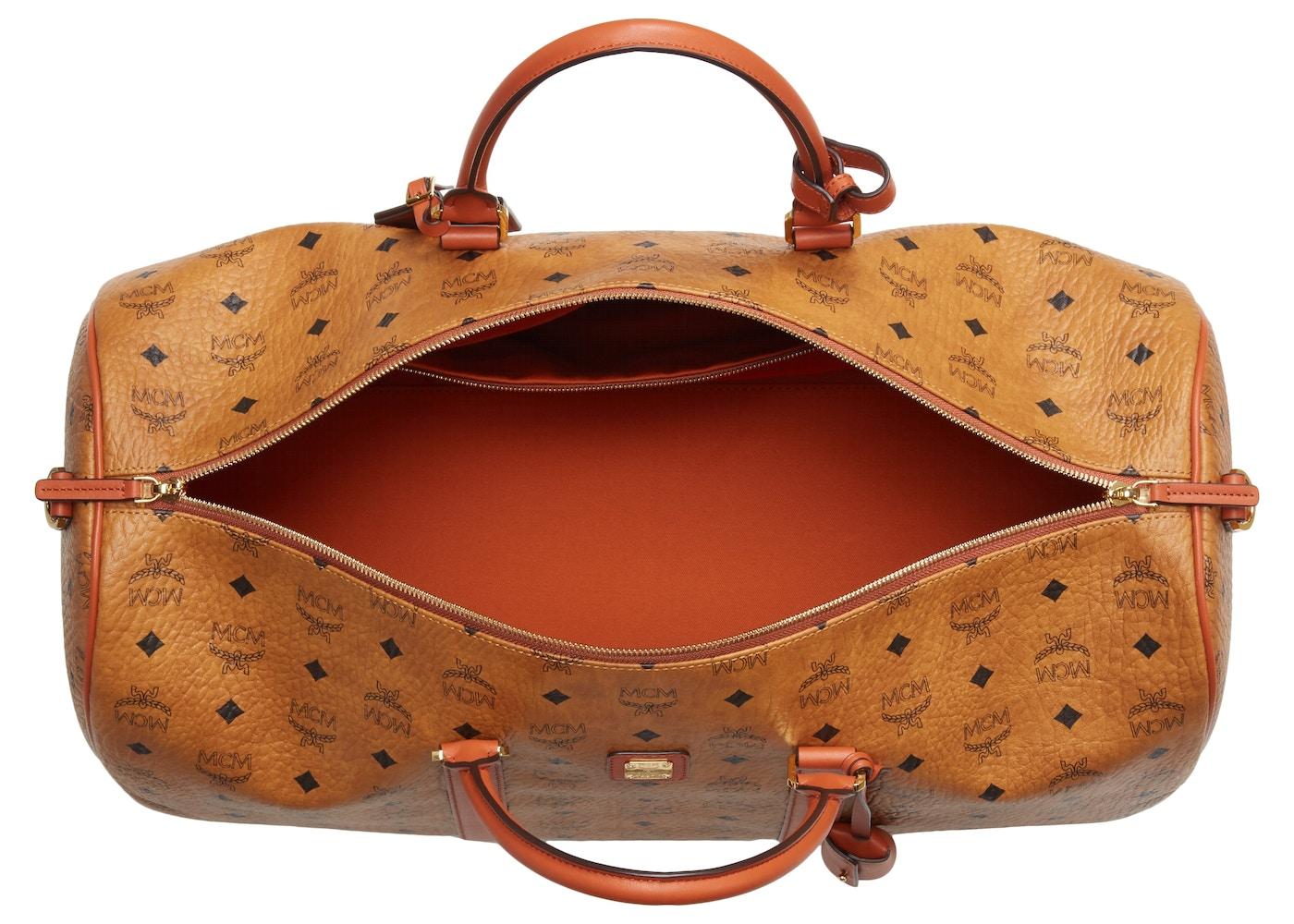 c87ad8e321f MCM Vintage Weekend Bag Visetos Nordstrom Exclusive Large Cognac