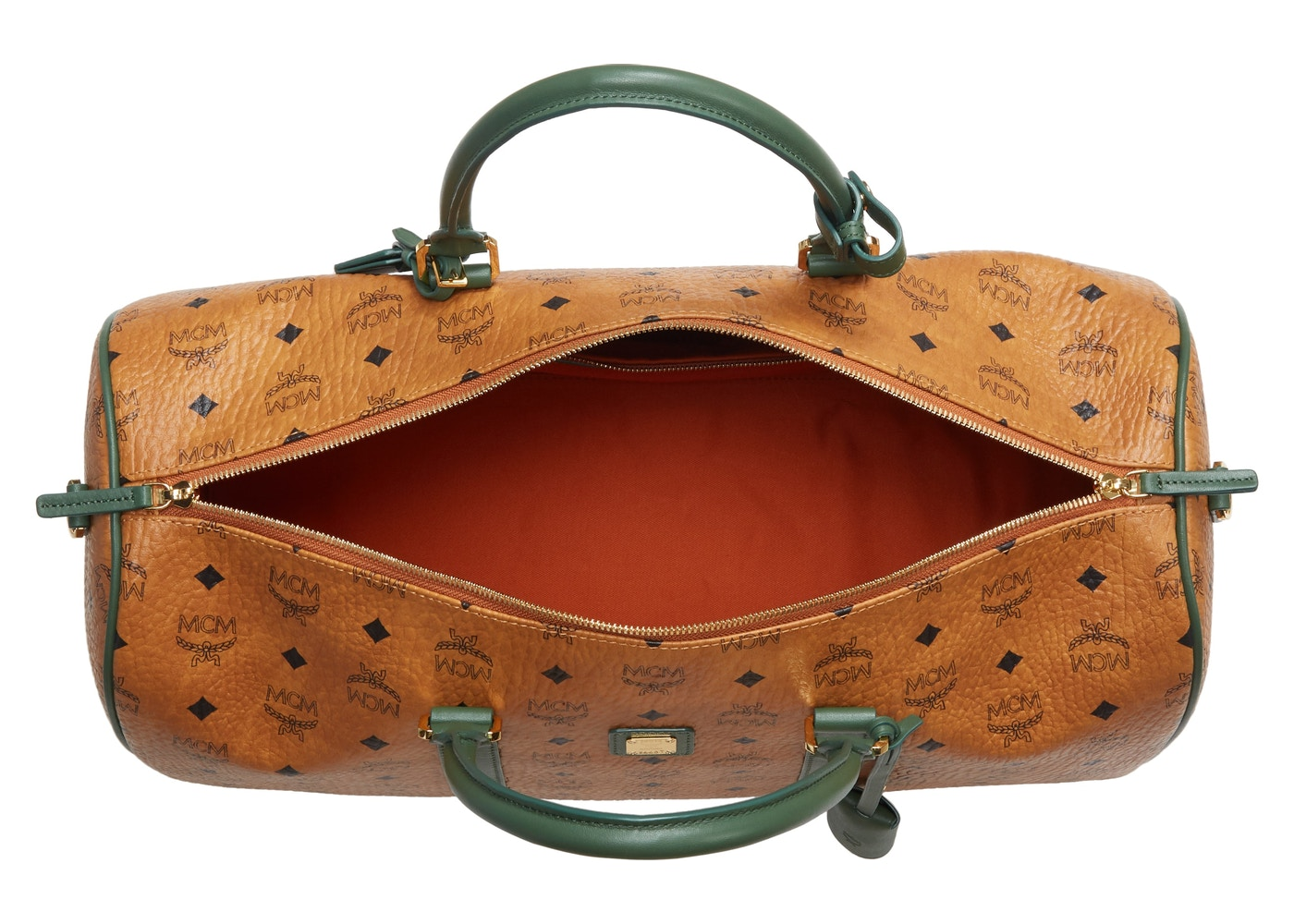 c43afe23b08 MCM Vintage Weekend Bag Visetos Nordstrom Exclusive Medium Cognac/Safari  Green