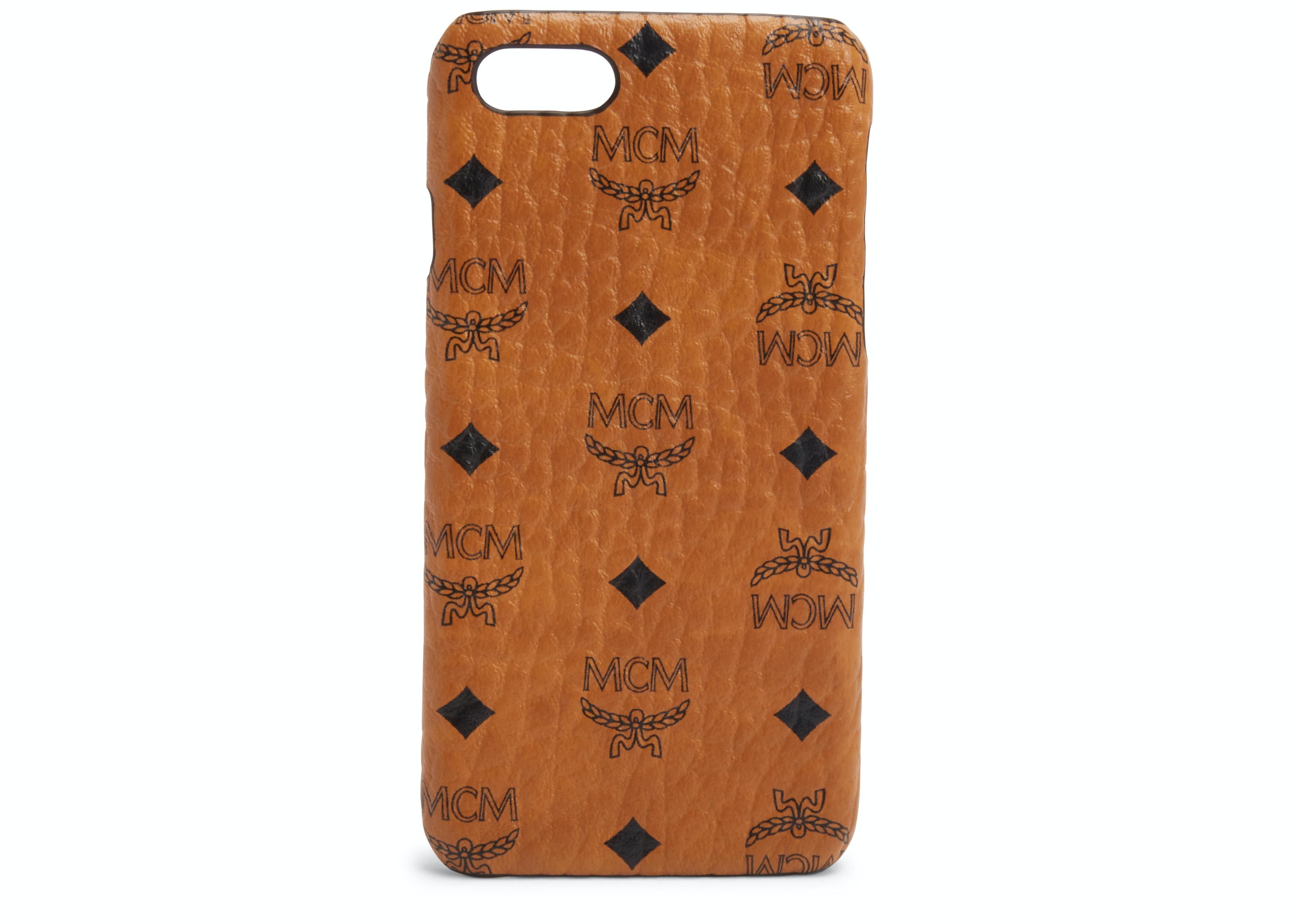 MCM iPhone Case Visetos 6S/7/8 Cognac