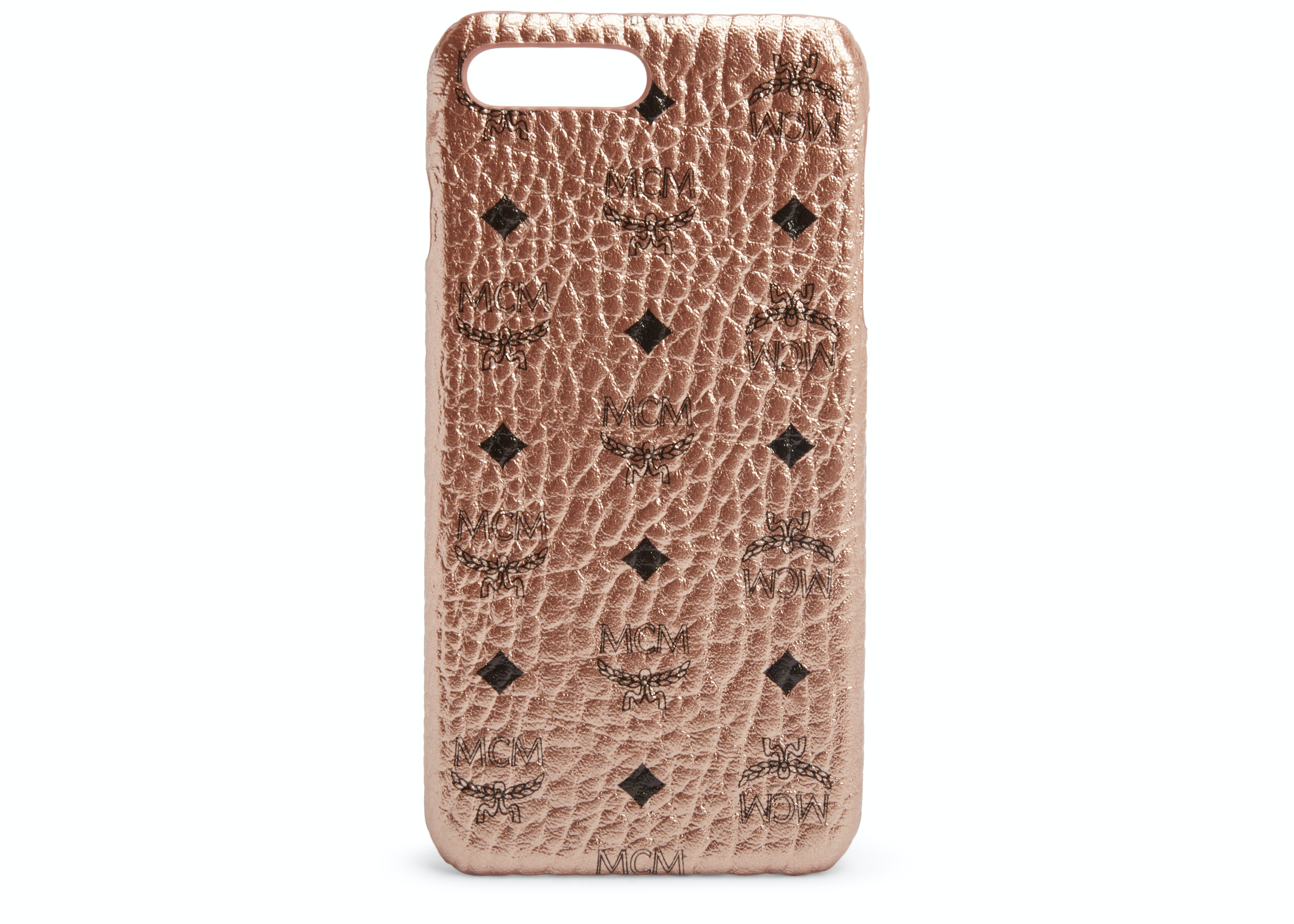 MCM iPhone Case Visetos 6S/7/8 Plus Champagne Gold