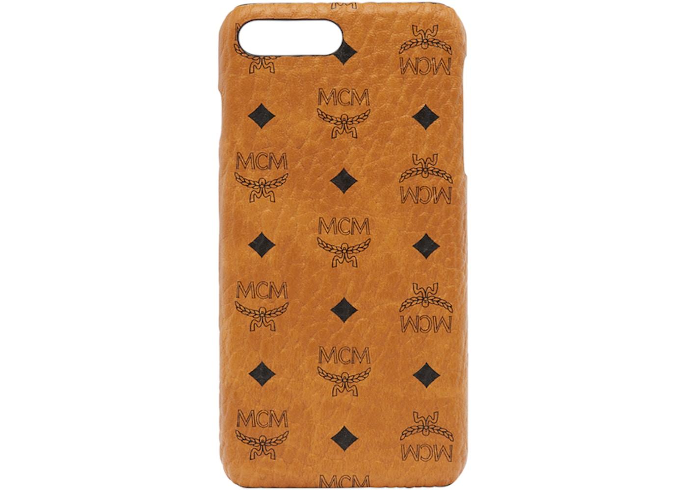 pretty nice 157ce 025ac MCM iPhone Case Visetos 6S/7/8 Plus Cognac