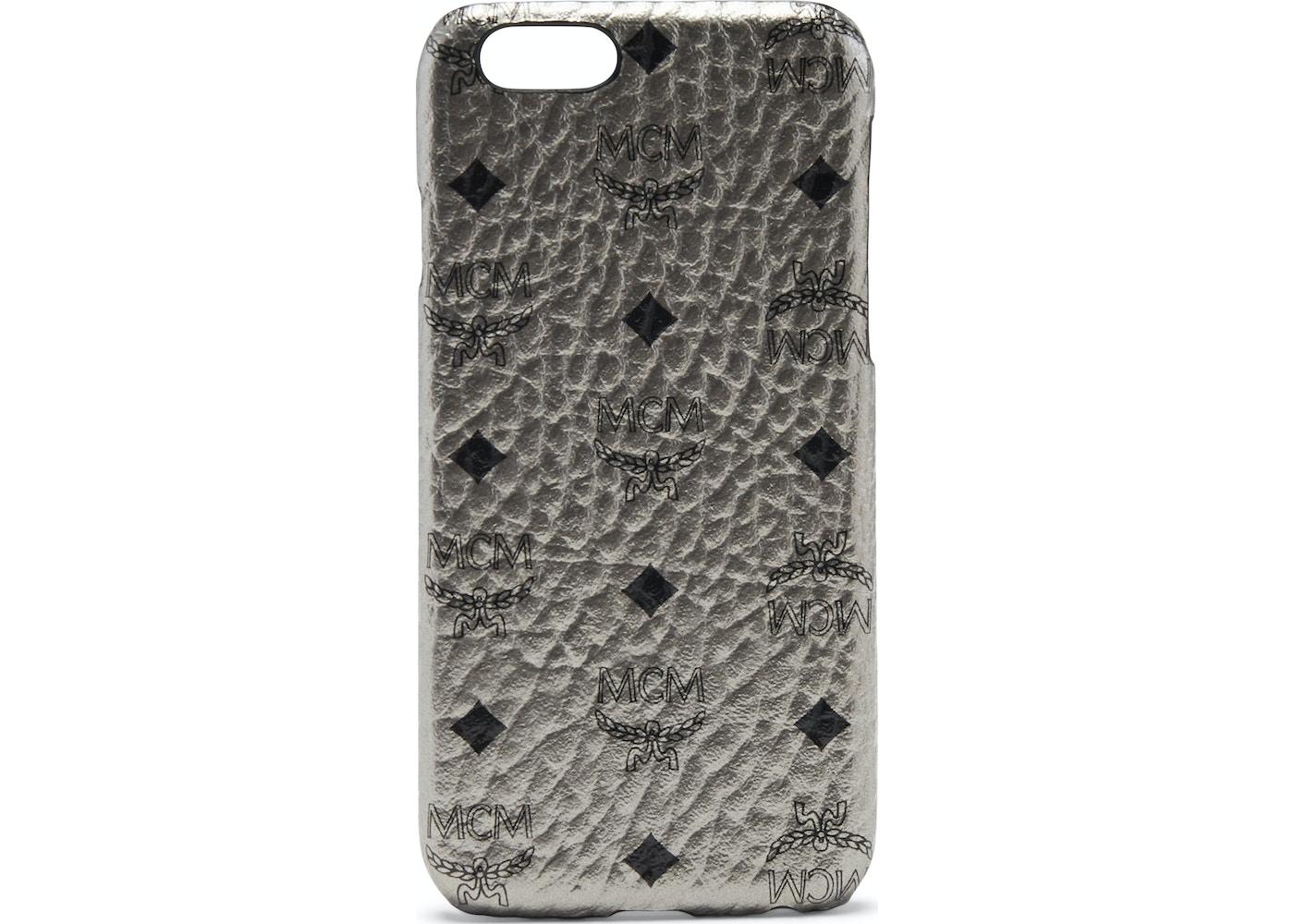 reputable site 1fb6d 722b2 MCM iPhone Case Visetos 6S/7/8 Plus Metallic Silver