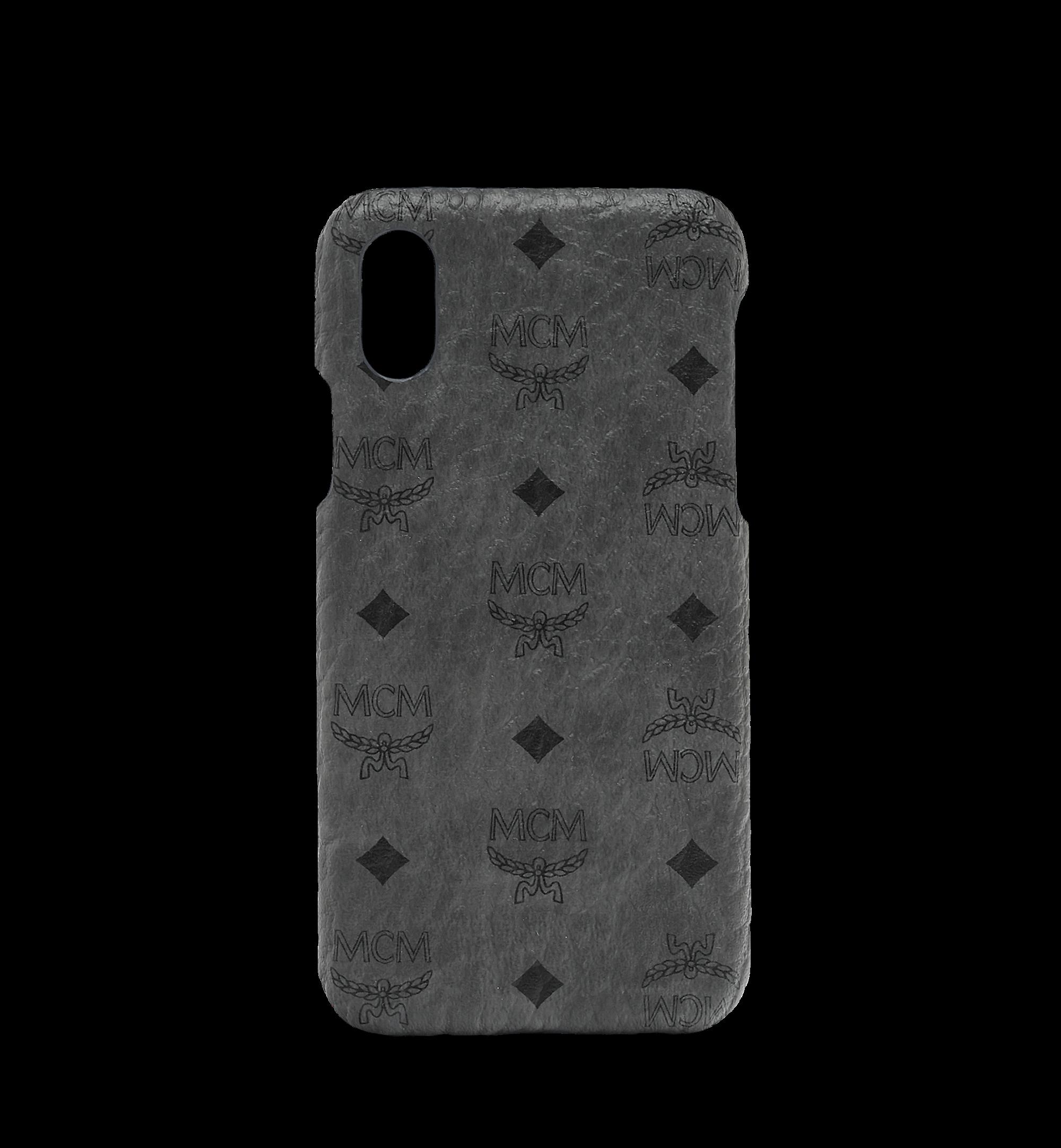 MCM iPhone X Case Monogram Visetos Original Phantom Grey