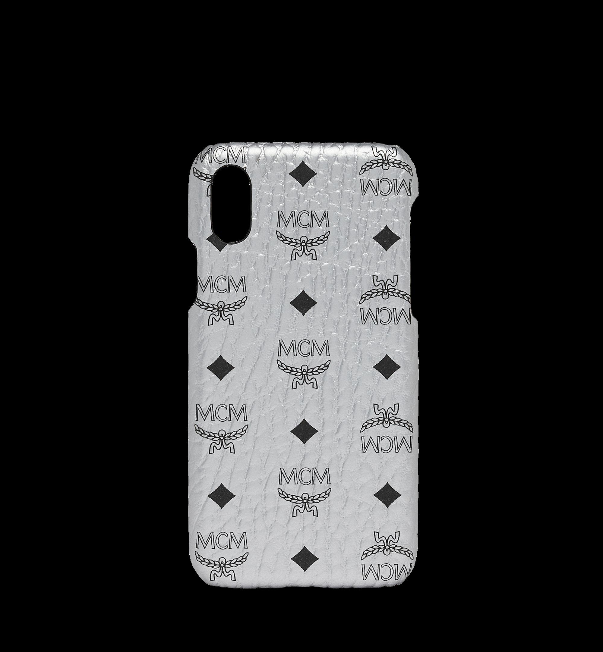 MCM iPhone X Case Visetos Berlin Silver