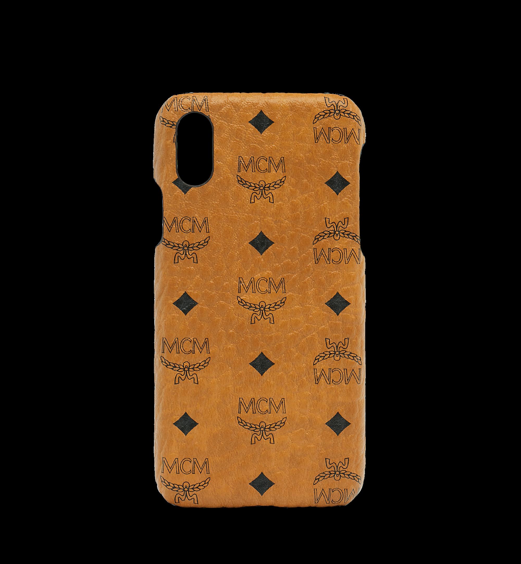 MCM iPhone X Case Visetos Original Cognac