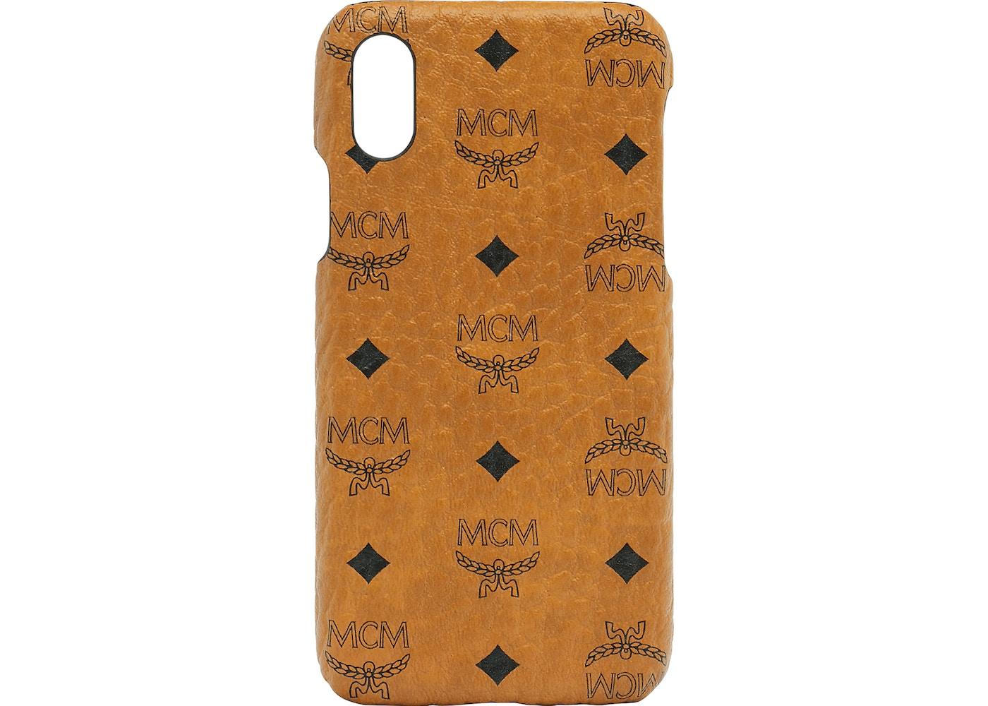 cheap for discount 19010 c3d97 MCM iPhone X Case Visetos Original Cognac