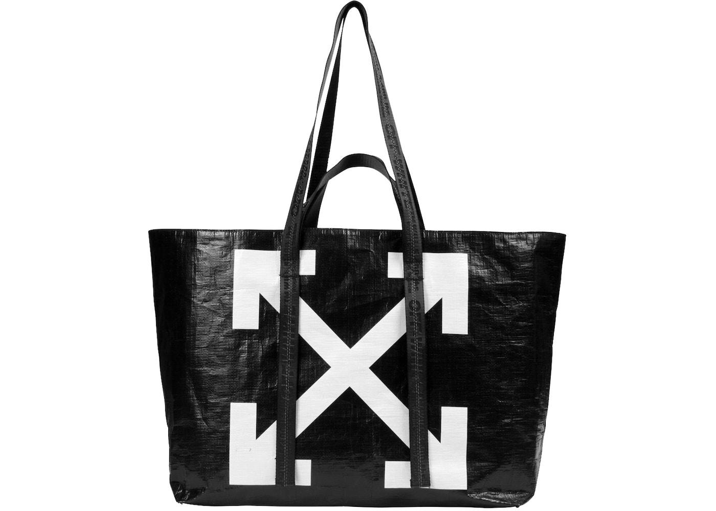 hot-seeling original modern and elegant in fashion elegant in style OFF-WHITE Arrows Tote Bag Black White