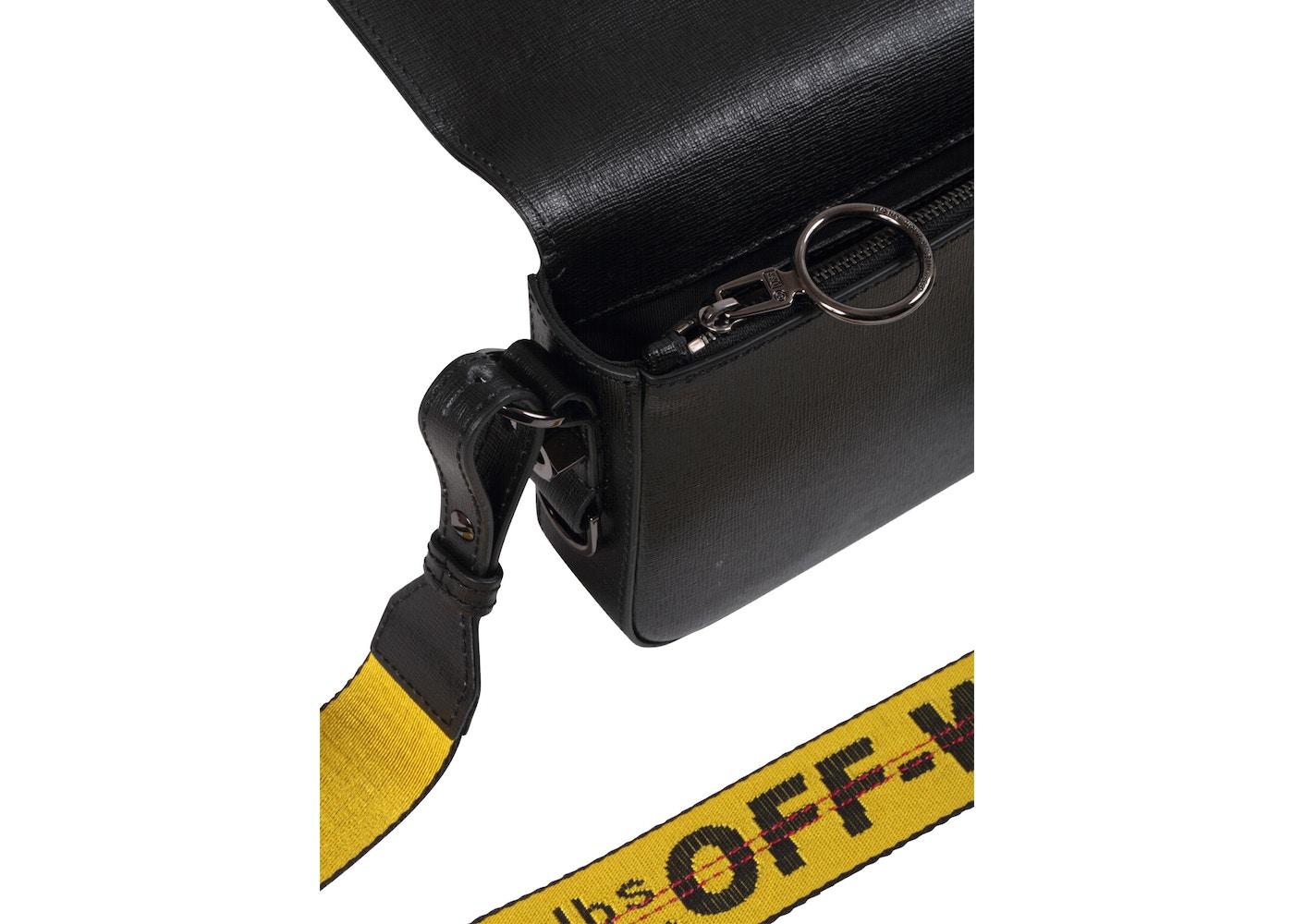 c101b9b3 OFF-WHITE Binder Clip Bag Diag Mini Black White Yellow