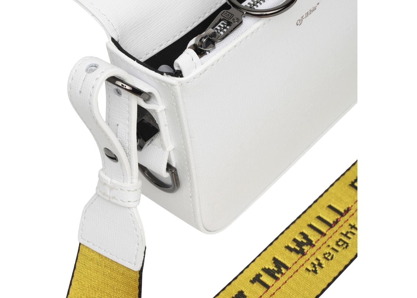 777eb686 OFF-WHITE Binder Clip Bag Diag Mini White Black Yellow