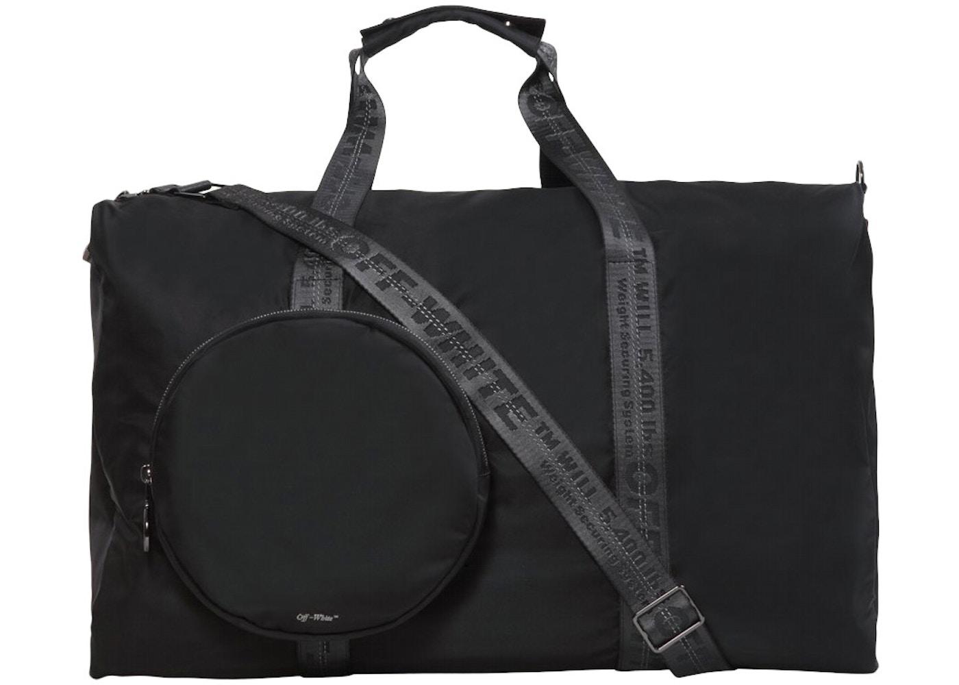 gran ajuste hermosa y encantadora 60% de descuento OFF-WHITE Duffle Bag Black