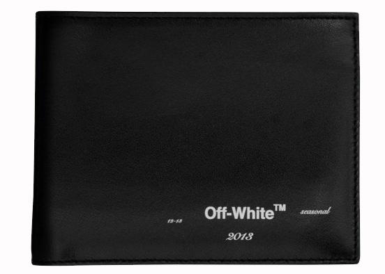 OFF WHITE Logo Bifold Wallet Black White