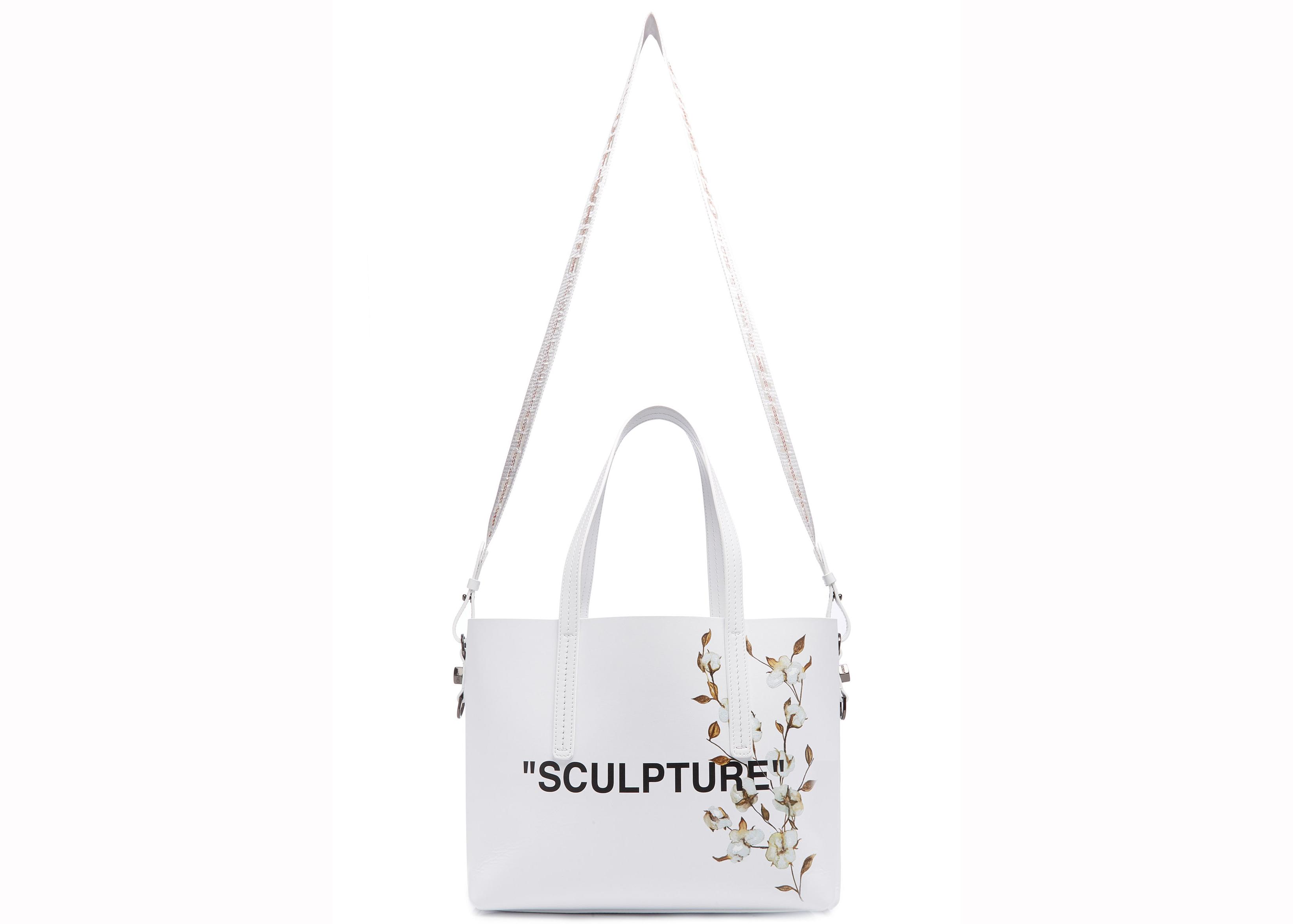 Off-white Tote Cotton Flower Sculpture White