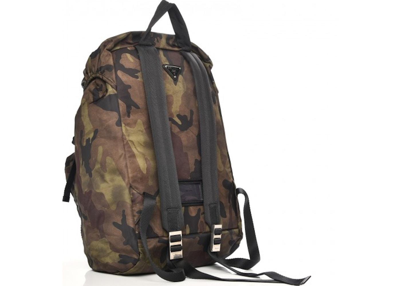 917fac32dcd2 Prada Mimetico Backpack Tessuto Camouflage Green/Brown/Black