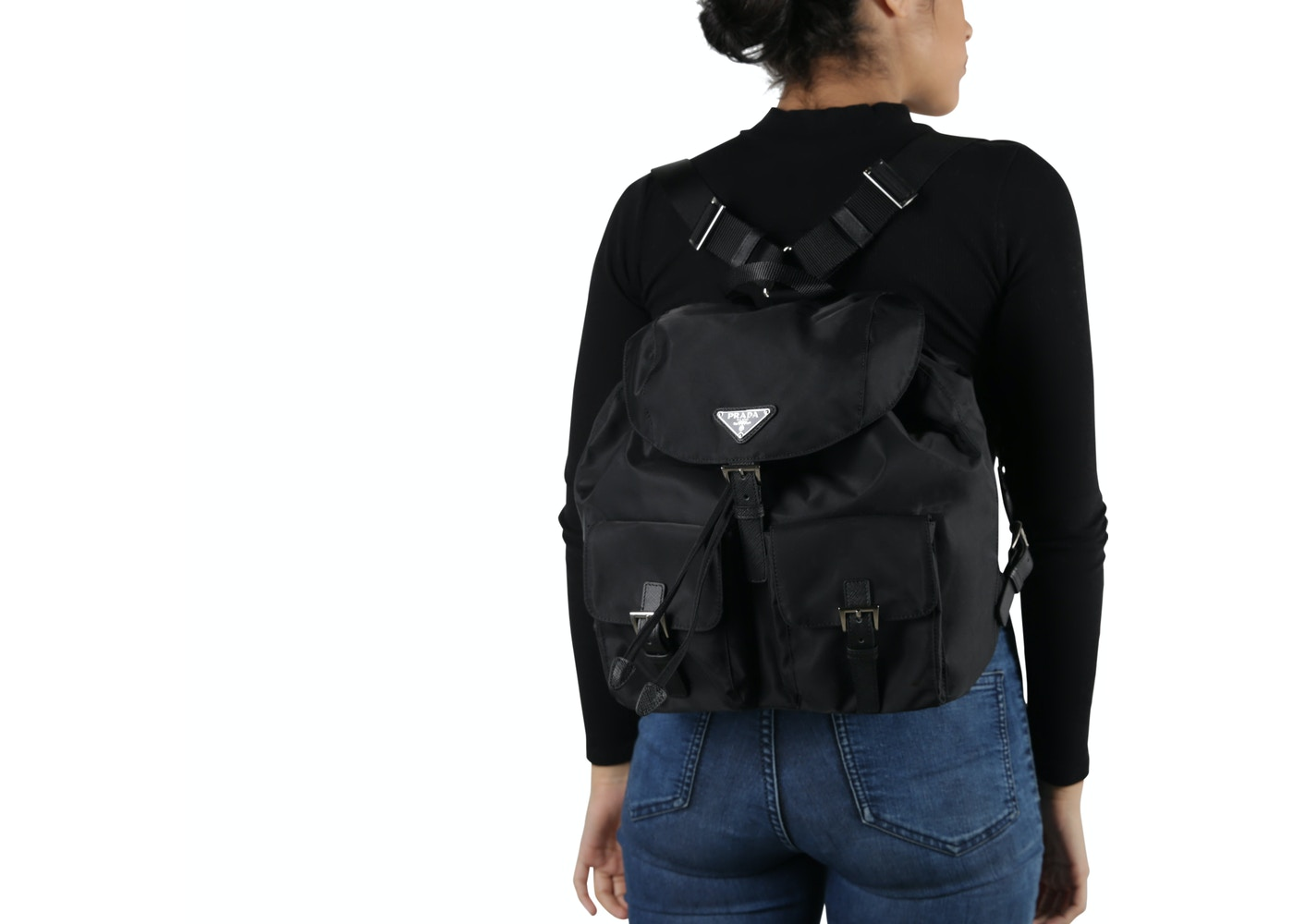 05027cbe259d0b Prada Vela Backpack Nero Black