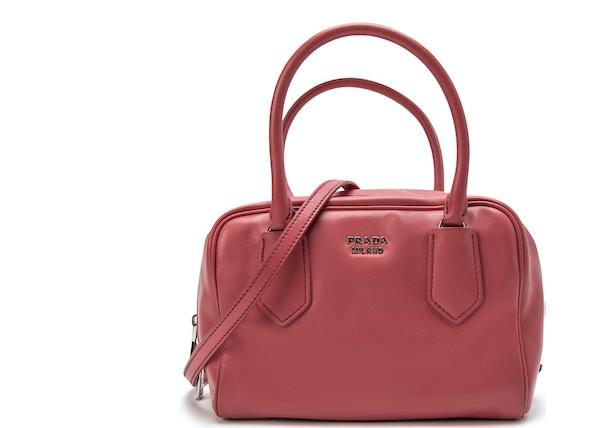 c6ac5f16107 Prada Bauletto Handbag Dark Pink