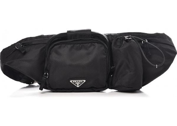 58b6564e72 Prada Belt Bag Nylon Tessuto Montagna Black