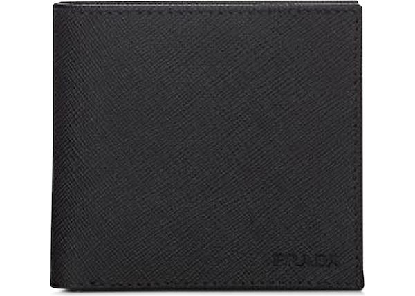 2d0ef480d4 Prada Bifold Wallet Saffiano Black