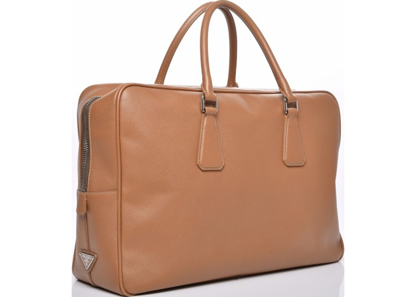 Sell. or Ask. View All Bids. Prada Travel Briefcase Saffiano Beige 995db625e27d8