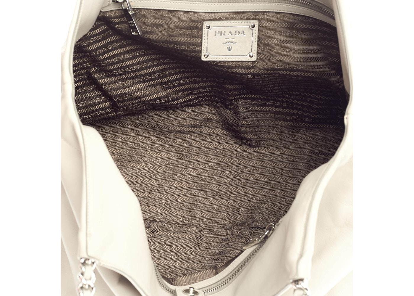 Prada Shoulder Bag Chain Tote Light Grey 1b5107385c205