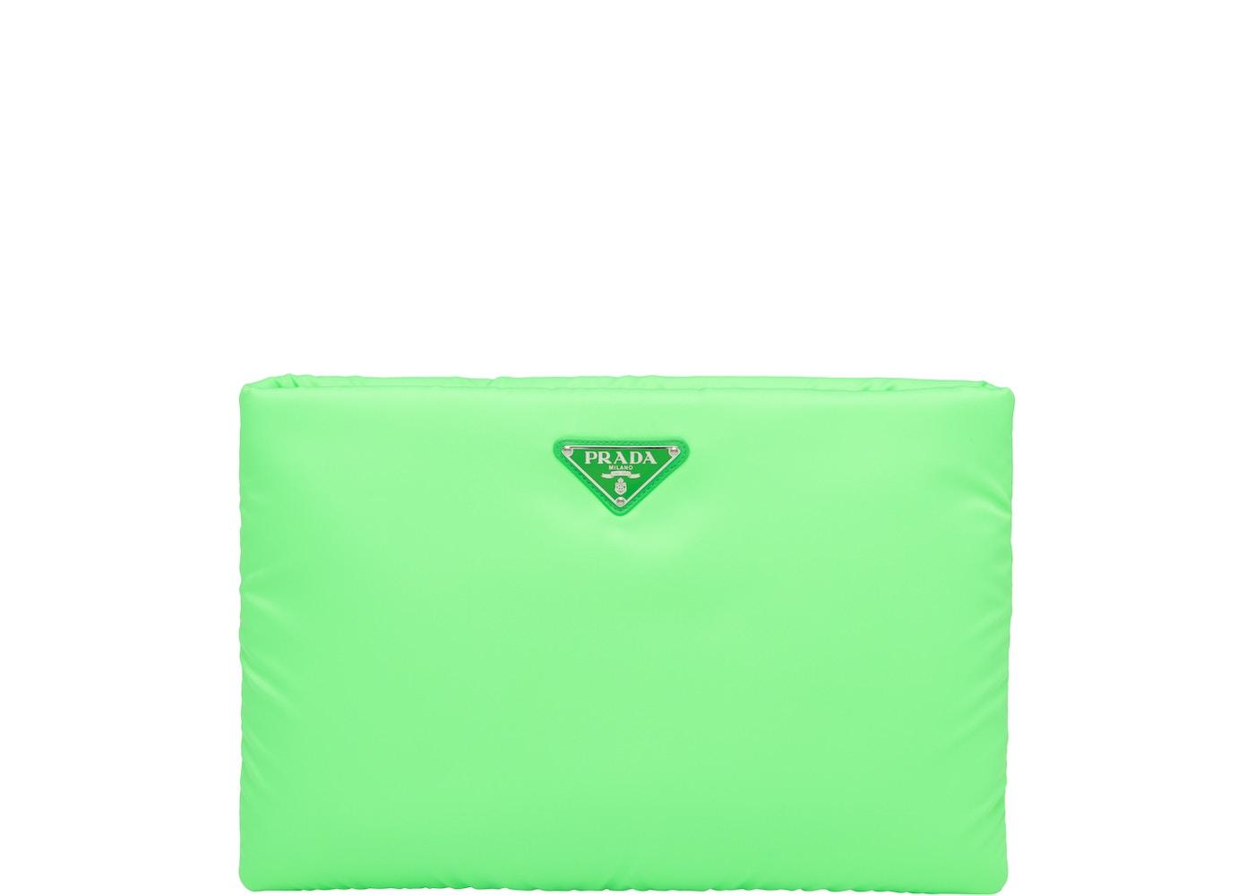 debc07c9259e Prada Clutch Padded Nylon Large Green. Large Green