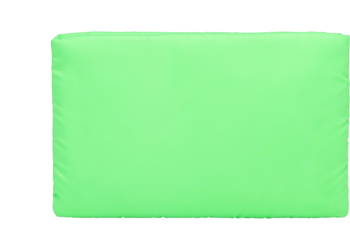 8db668a0ead88b Prada Clutch Padded Nylon Medium Green