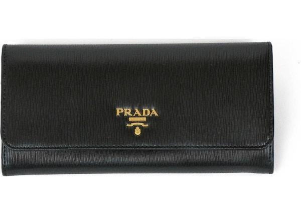 18f4e9544418 Prada Continental Flap Wallet Detachable Case Black