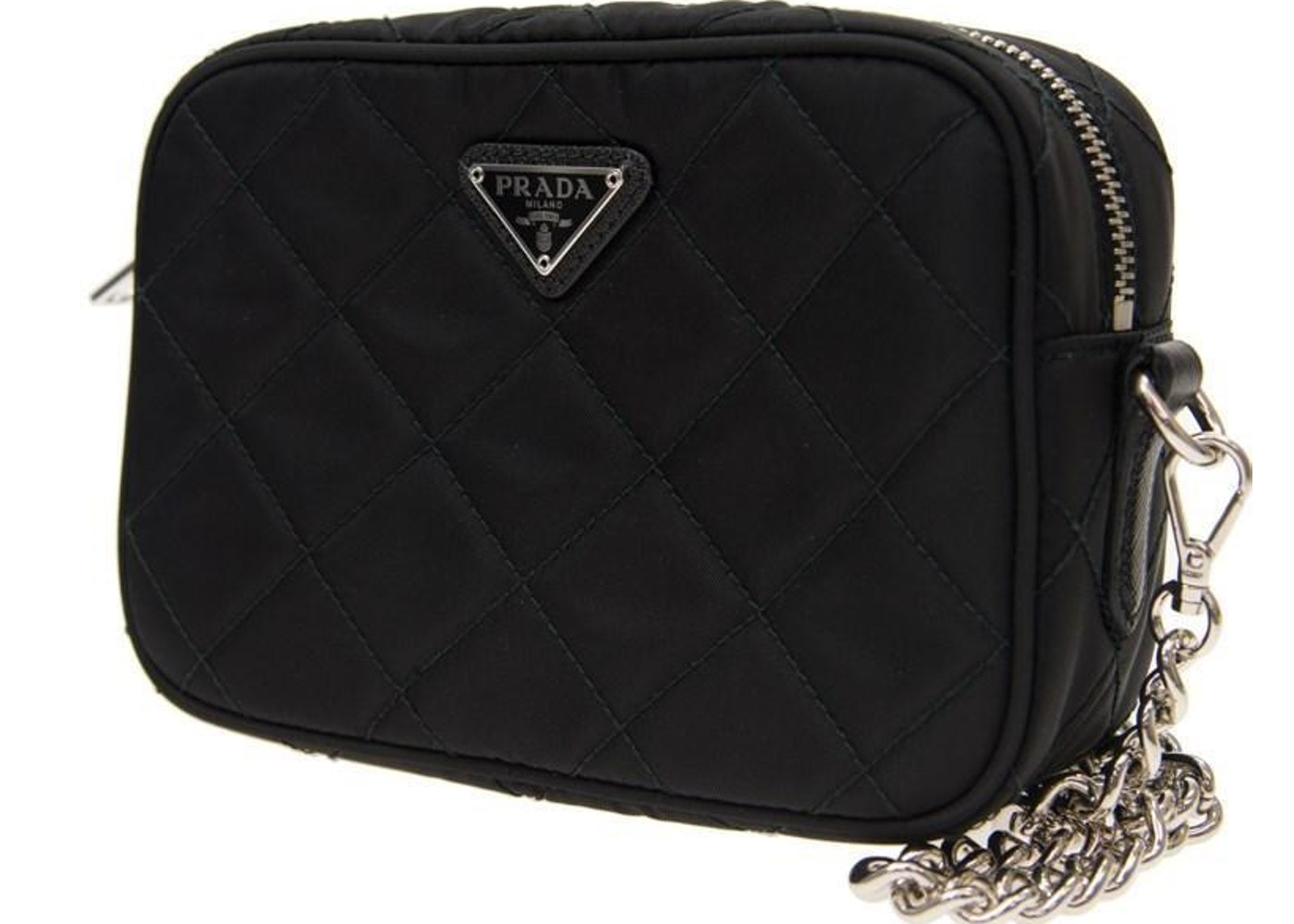 27c1c04d7ef2 Prada Crossbody Quilted Tessuto Mini Black. Quilted Tessuto Mini Black