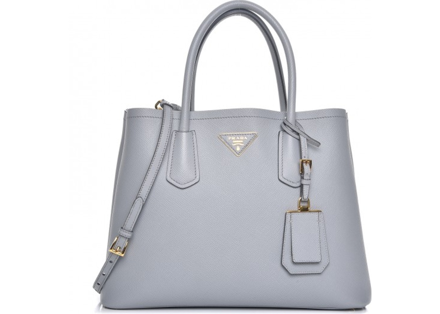d5a1649b724f Prada Double Handle Tote Saffiano Cuir With Accessories Small ...