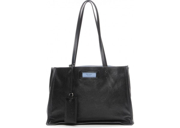 ba4aa9c7379c Prada Etiquette Shopping Tote Glace Nero/Astrale