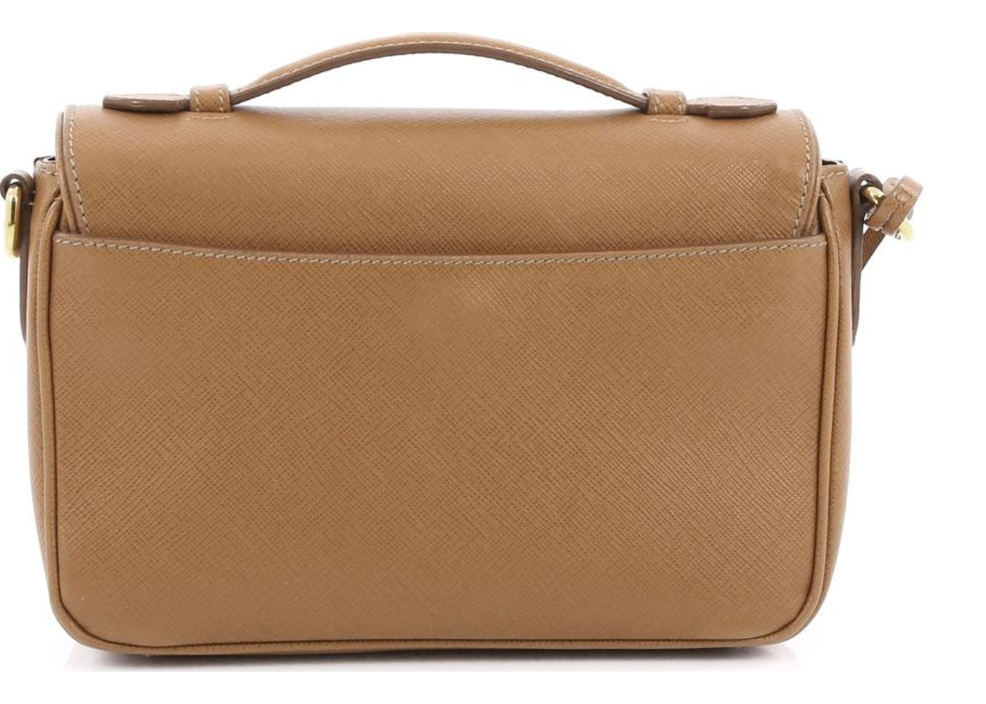 65eba3322595 Prada Sound Bag convertible Flap Vernice Saffiano Mini Light Brown